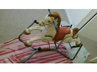 1950s tin rockin horse