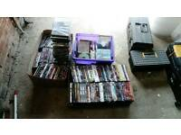 HUGE JOB LOT OF DVDS AND CDS SUIT CAR BOOTER