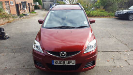 Mazda 5 TS2 2008 Mileage 80k Red 7 Seater great condition