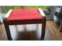 Red Ikea Footstool