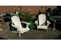 X2 Adirondack patio / garden chairs