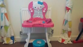 Hello Kitty Light Up Dressing Table with Stool