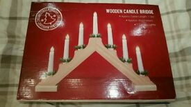 Christmas lights! Wooden candle bridge