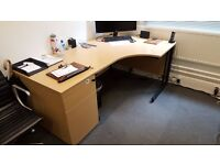 Desk, Filing Cabinet, Chairs, Stationary Cupboard (FREE)