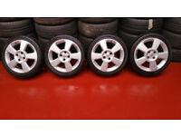 Vauxhall Genuine 16 alloy wheels + 4 x tyres 195 45 16