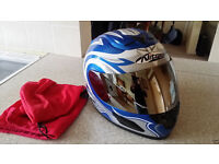 ** New Nitro n610-v xs 54 cm fibreglass helmet with mirror visor **