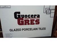 GUOCERA GRES GLAZED PORCELAIN FLOOR TILES CREAM 5 BOX SIZE; 60cm x60cm