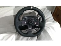 Logitech G920 racing wheel with shifter + pedals