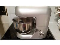 Boxed Silver Andrew James 5.2 l Food Mixer with manual and recipe book