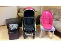 iCandy Strawberry Pushchair Stroller - Suitable From 6 Months Upwards - With Rain Cover & Seat Liner