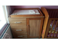 baby changing unit storage table oak £40.00 ono