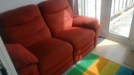 Red Reclining Sofa