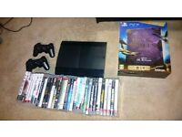 Ps3 in full working order with 2 pads and a lot of games. Cheap!