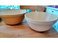 2x T.G Green Large Mixing Bowls, Ceramic, Bakeware £10 Each
