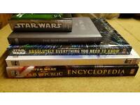 Lot of Star Wars items. Books and toy