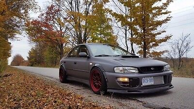 Subaru Impreza 4doors fender flares set,wide body kit,ABS plastic,smooth. GC8