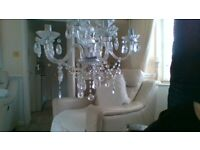 beautifull chandeliar silver 8 arm new