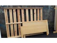 Ikea Beech Double Bed Base