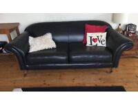 Black leather sofa great condition