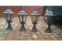 Garden pillar lights
