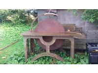 Vintage Bamfords Saw Bench - working order comes with pulleys.