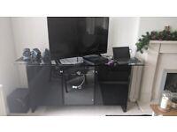 High quality black TV stand