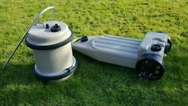 Caravan motor home wastemaster and aquaroll water waste drum tank jar