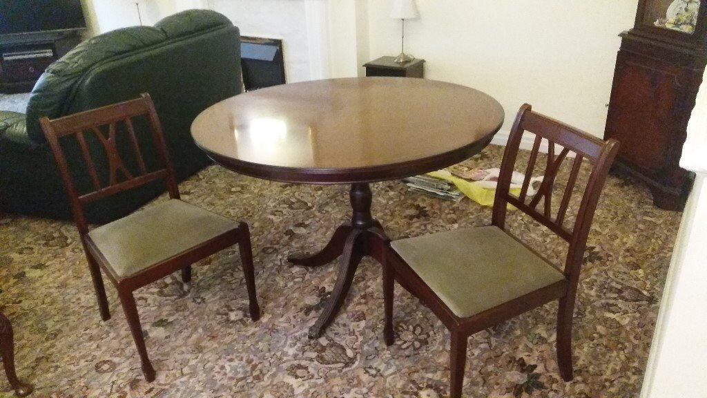 Four Foot Round Table And Four Chairs In Bawtry South Yorkshire