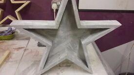 Wooden Star Table Centerpiece