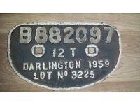Cast Iron Train Sign
