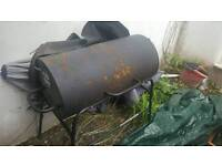 Used half oil drum bbq - charcoal