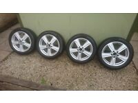 Genuine Mercedes E class alloy wheels with full set of Pirelli winter 2454517 tyres. A2124013902