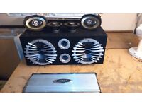 Car stereo amp sub and speakets
