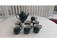 DENBY Greenwich Coffee Set with mugs