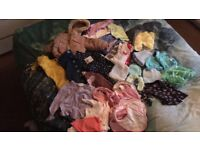 Baby girls clothes and bibs free free free