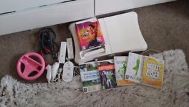Nitendo wii with games and fit board