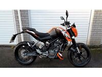 2016 KTM Duke 125 - 7 months old - Only 505 miles - Warranty - Feb 17 price offer!!
