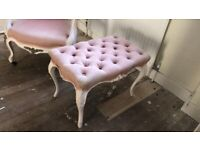 Shabby Chic French Armchair and Bench