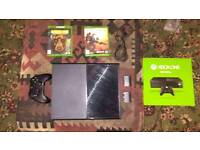Xbox one with games and pad