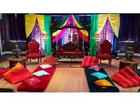 Wedding Stages, Wedding lights, Indian wedding services, Asian wedding stages, marquee hire, UB1