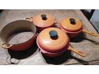 Used le Creuset pans