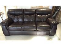 Dfs leather 3 seather sofa