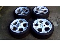 Mercedes SL, VW, Audi, Seat, Alphard 18 genuine alloys with tyres staggered 8,5j and 9,5j