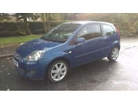 2008 58 Ford Fiesta 1.25 Zetec Blue. A Lovely Little Car. Ideal For The New Driver. PX Possible