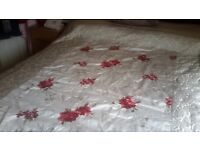 Beautiful taupe and rose double bed throw £10 ono