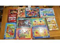 Bundle of puzzles / jigsaw for girls and boys + Disney Cars Memory Game