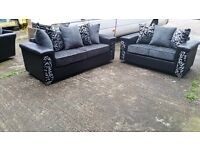 MIAMI HAND MADE 3+2 FABRIC SOFA IN HIGH QUALITY SPRING BASE AND FIRM FOAM SEATS BRAND NEW £399