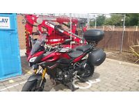 Yamaha MT09 Tracer, low mileage, excellent cond + many options/extras -FSH -1 owner