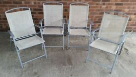 NEED SOME EXTRA SEATS FOR YOUR NEW YEARS EVE PARTY 4 METAL FRAMED FOLDING CHAIRS