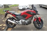 HONDA DCT MOTORCYCLE 700cc 2012, LOW MILEAGE.TWIST AND GO.